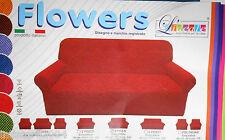COPRIDIVANO 3 posti Flowers elasticizzato universale made in Italy 170x250cm