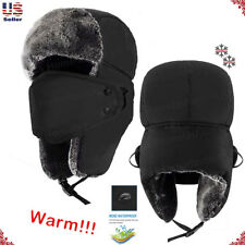 New Mens Winter Warm Russian Hat Trooper Snow Ski Ushanka Waterproof Warm Unisex