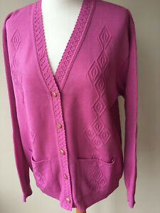 LADIES,WOMENS,LADYS, NAVY BLUE X-LARG V-NECK  LONG SLEEVED CARDIGAN WITH POCKETS