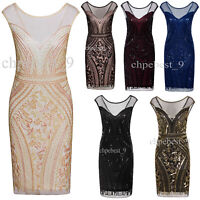 1920s Flapper Dress Great Gatsby Costumes Evening Gowns Party Wedding Womens