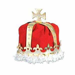 Medieval Royal King Crown Red
