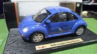 VOLKSWAGEN NEW BEETLE Coccinelle Bleu 1/18 MAISTO 31875 voiture miniature