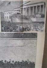 Vintage Print,ABRAHAM LINCOLN,DC,March 1861,Homer,Harpers,March 1861