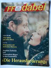 DDR Fernsehzeitschrift FF Dabei RARITÄT 22/1986 TOP !!