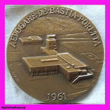 MED1852 - MEDAILLE AEROGARE BASTIA PORETTA CORSE 1961 par BARON