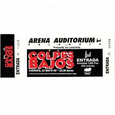 GOLPES BAJOS Concert Ticket Stub VALENCIA SPAIN 5/4/90 ARENA AUD. VIVO TOUR Rare
