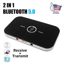 Bluetooth Transmitter & Receiver Wireless A2DP Home TV Stereo Audio Adapter USA