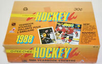 1988 OPC Hockey Yearbook Sticker Wax Box 48 packs OPeeChee Brett Hull Rookies