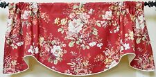 Waverly Rose Garden Floral  / Scallop Rod Pocket Lined Window Valance
