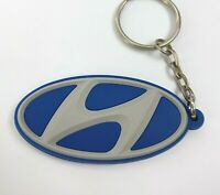 New Free Shipment HYUNDAI Rubber keychain keyring chains keyholder
