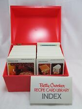 Betty Crocker Recipe Card Library File 1971 Vintage Boxed Collection Orange Box