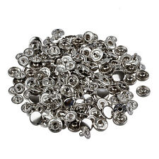 50 Set Metal No Sewing Press Studs Buttons Snap Fastener 10mm DT