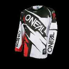 MAGLIA MTB DOWNHILL DH O'NEAL HARDWEAR Jersey FLOW JAG white/red bianco/rosso
