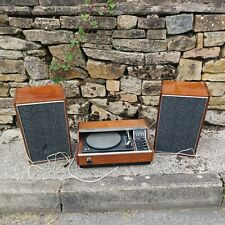 More details for  vintage wooden turntable with 2 speakers rigonda party time calipso