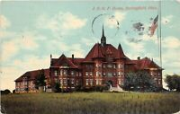 Springfield Ohio 191 Postcard IOOF Home Oddfellows Flag Pole