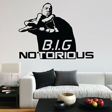 Notorious Big Biggie Smalls B.I.G Music Artis Rap Decal Wall Art Sticker Home UK