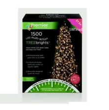 1500 LED Multi Action 8ft Christmas Tree Cluster Lights & Timer - Bright White