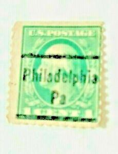 Philadelphia, PA Type 44 Precancel - 1 cent Franklin perf 10 (U.S. #581) - PA
