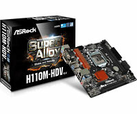 ASRock Gaming Desktop PC Intel LGA 1151 H110M-HDV R3.0 HDMI MATX Motherboard