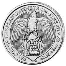 Queens Beasts Falcon Of Plantagenets 2019 2 Onza Onza Plata Plata Reino Unido