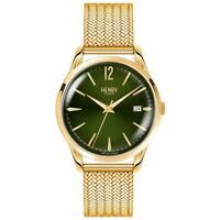 Henry London Chiswick Moss Hamilton Gold Plated Bracelet Watch New