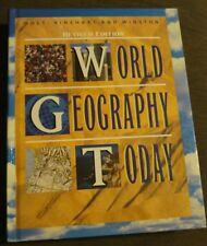 World Geography Today Holt Rinehart and Winston 10th grade10 homeschool Like New