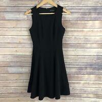 White House Black Market Women's Sleeveless Seamed Fit & Flare Dress, Size 0
