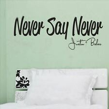 Huhome PVC Wall Stickers Wallpaper English Never Say Never inspirational home de
