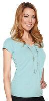 Tri-Mountain Women's Moisture Wicking V-Neck Short Sleeve Best T-Shirt. LB129