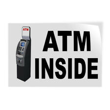 Decal Stickers Atm Inside With Machine Vinyl Store Sign Label Business