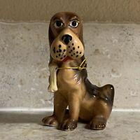 Vintage Kreiss Hound Dog Figurine Bone Porcelain