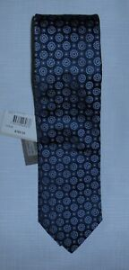 Canali  Abstract Blue Circles 100% Silk Tie New With Tags Size 1 Made In Italy