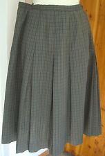 Vintage 1950s Century Boston Dacron Poly Cotton Inverted Pleat Skirt Side Zipper