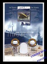 Coffret timbres Belgique 100 ans le naufrage du TITANIC avec lunettes en 3D neuf