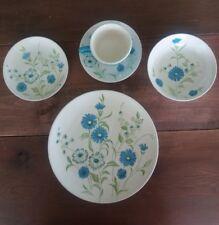 Vintage Cavalier Ironstone Royal (USA) China Blue Wild Floral Pattern