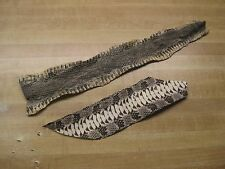 Two Tanned Diamondback Snake Skin Pieces U