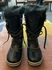 Sorel Women's Joan of Artic Waterproof Boot  Quarry/ Black Size 6
