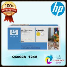 Original HP Q6002A 124A Yellow Toner Cartridge LaserJet 1600 2600 2605 CM1015mf