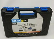 NEW Kobalt 93-Piece 1/4 & 3/8-Inch Drive Mechanic's Tool Set Hard Case 0573340