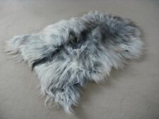 Prestigious British made sheepskin rug by Owen Barry - SHAGGY ICELANDIC GREY