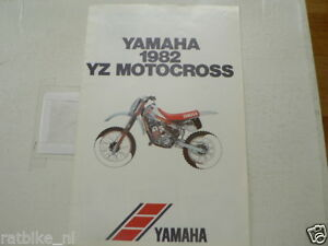 Y329 YAMAHA BROCHURE 1982 YZ MOTOCROSS MODELS ENGLISH 10 PAGES YZ50,YZ80,YZ100