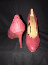 Coach NEW Red Urban Suede Pumps Stiletto Shoes Size 9.5 Retail $350.00 RARE
