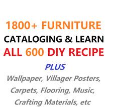 🔥Animal Crossing New Horizons 600 DIY Catalog Furniture Cataloging 2000+ items