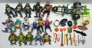 Vintage Lot of 80s-90s TMNT Figures and Accessories