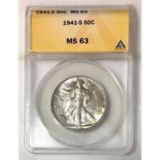 1941 S Walking Liberty ANACS MS63 ***Rev Tye's Coin Stache*** #900490