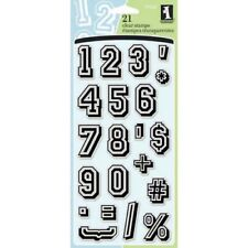 Inkadinkado Clear Rubber Stamps JERSEY NUMBERS