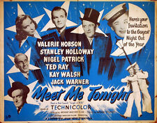 MEET ME TONIGHT 1952 Ted Ray Valerie Hobson Kay Walsh UK HALF-SHEET POSTER