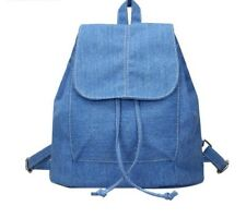 cd971ed1da Womens Denim Canvas Backpack Drawstring School Bags Small Backpack Rucksack  Gift