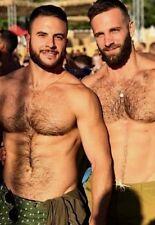 Shirtless Male Athletic Beefcake Beard Beefy Hairy Chest Hunks PHOTO 4X6 F1704
