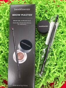 BARE MINERALS Brow Master Brow Gel+Brush UNIVERSAL TAUPE - NEW in Box, FREE SHIP